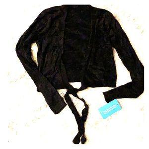 Harmonie black wrap ballet sweater